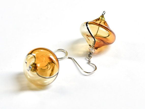 Blown glass earrings Blown glass jewelry Mom gift by BeadABoo