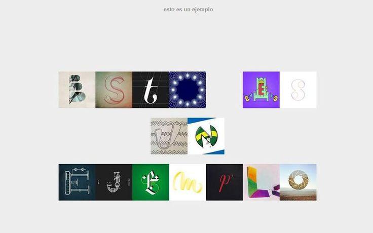 Type To Design es una herramienta web con la que podemos crear cualquier texto a partir de imágenes tipográficas compartidas en Instagram.