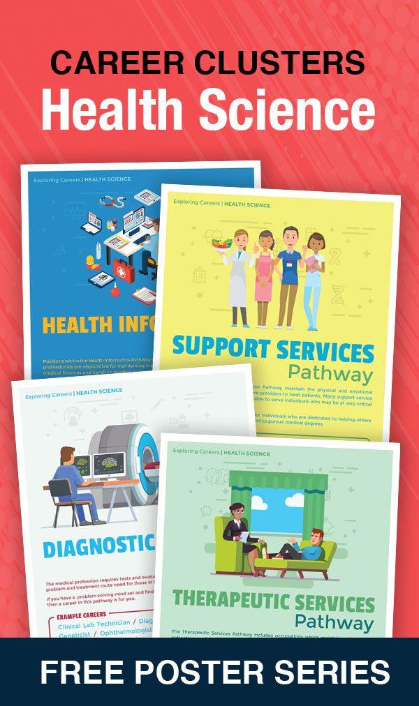 Free Poster Series Exploring Careers Health Science Health Science Classroom Health Science Health Science Education
