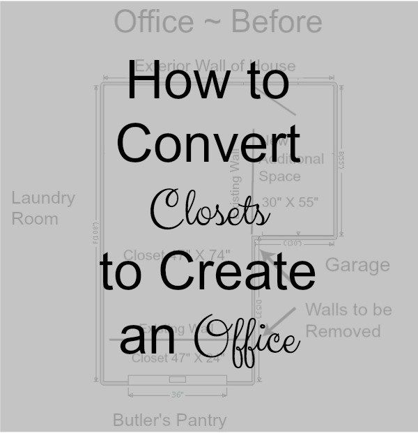 How to Convert Closets to Create an Office