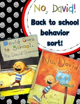 √ FREE No, David!  Back to School Behavior Sort