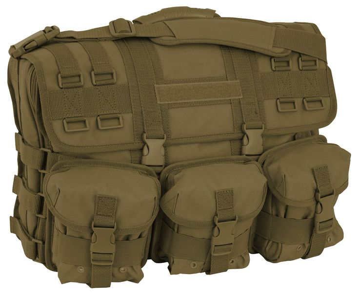 Code Alpha Computer Messenger Bag with Molle Pouches, Coyote
