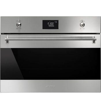 Smeg SFA4390MX 50L Classic Compact Microwave Oven 1000W | Appliances Online