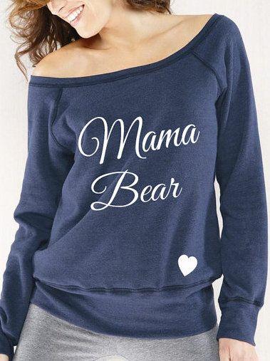 Mama Bear Sweatshirt - Slouchy Fleece