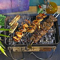 Barbecue meat - apparently not to be missed!