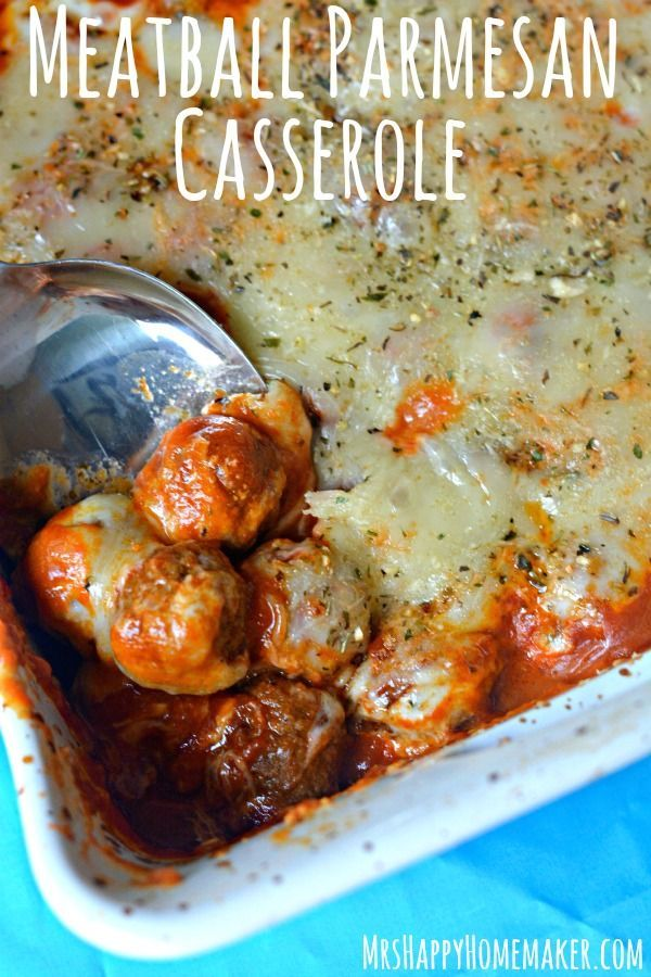 Meatball Parmesan Casserole - 5 Ingredients!