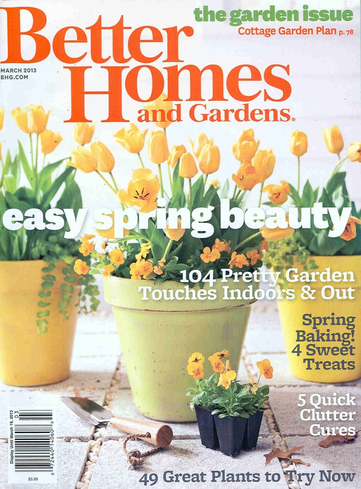 Better homes and gardens magazine better homes and garden magazine pinterest magazines for Better home and garden magazine