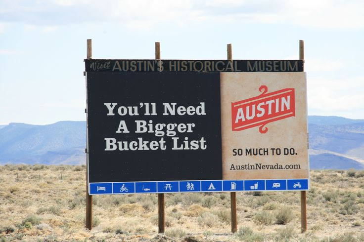 Little town, big attitude, Austin in Nevada.