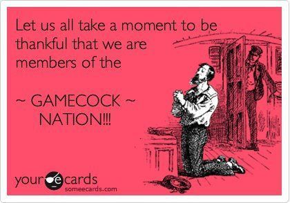 This is the best Ecard they ever made! Go Gamecocks take that title for the third year in a row!!!!!!!!
