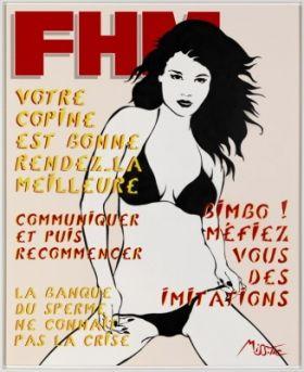 FHM, tirage pigmentaire sur papier Fine Art Etch