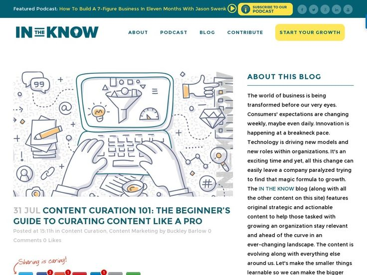 """Content curation in the modern digital world is the art of combing through the vast amount of content available on the Internet, sifting out the gems that will interest a particular audience, and then investing time to create an attractive and meaningful presentation of that information.""  by Buckley Barlow -  http://beintheknow.co/content-curation/"