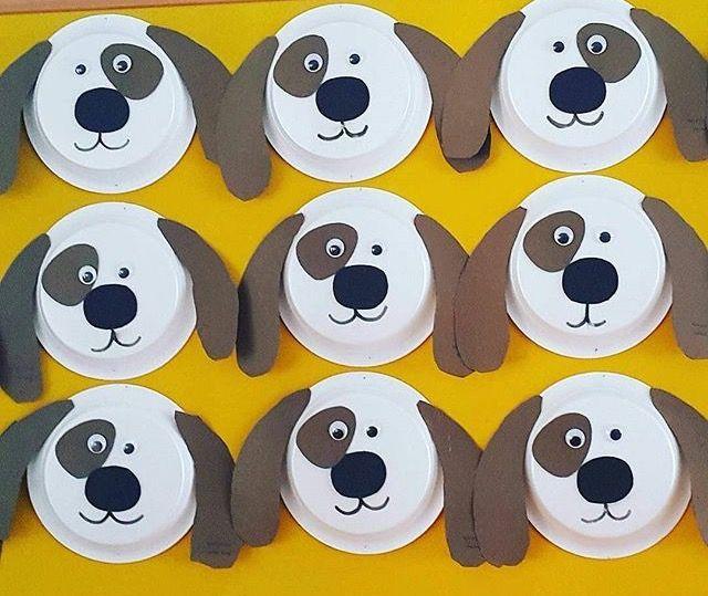 Okulöncesi sanat etkinlikleri tabak etkinliği köpek