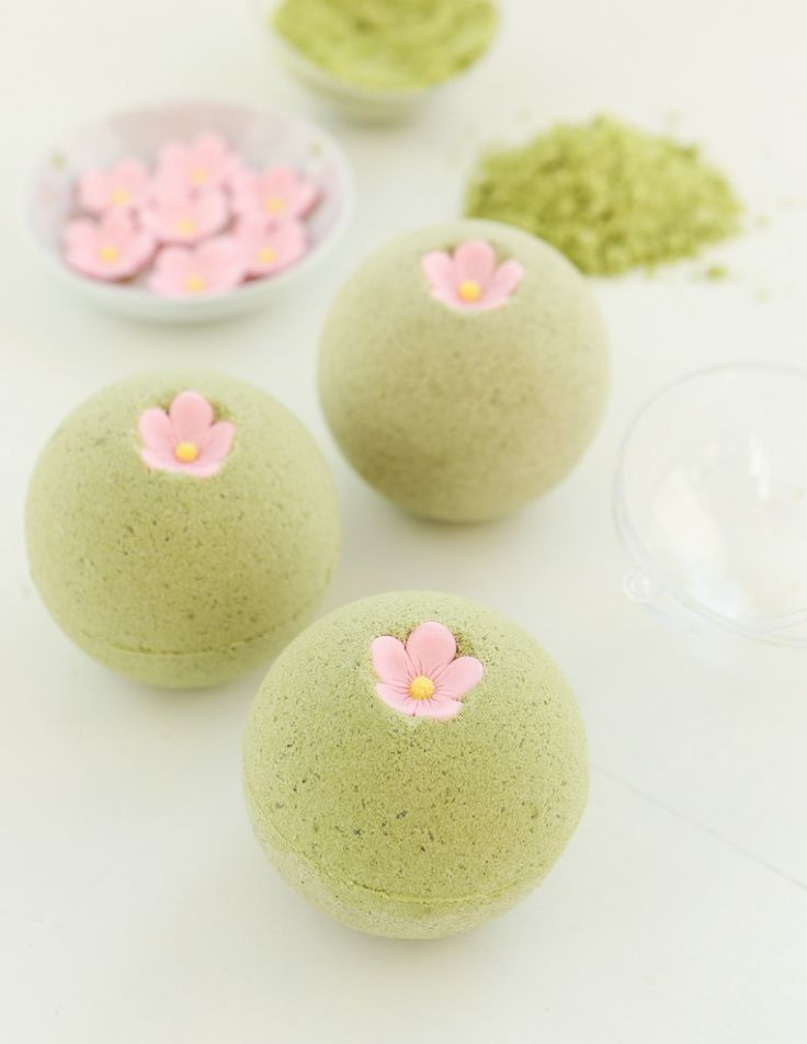 Sakura Green Tea Bath Bombs | Thirsty For Tea