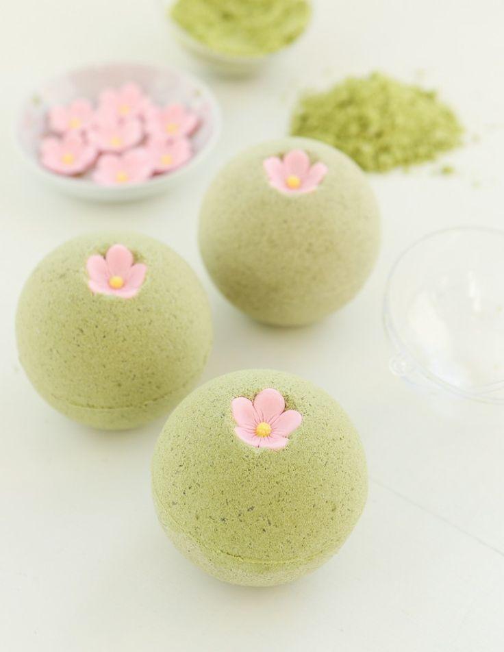 Sakura Green Tea Bath Bombs   Thirsty For Tea
