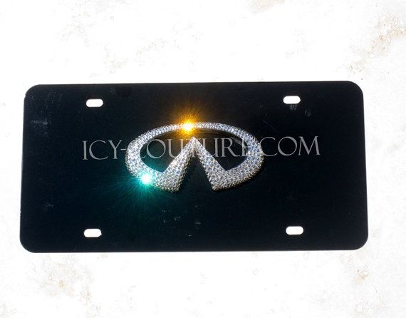 Crystal BLING 3D INFINITI logo Swarovski License PLATE on Etsy, $125.00