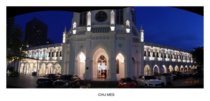 """CHIJMES (pronounced """"chimes"""" is a historic building complex in Singapore, which began life as a Catholic convent known as the Convent of the Holy Infant Jesus (CHIJ) and convent quarters known as Caldwell House. The complex is located at Victoria Street in the Downtown Core, within the Central Area, Singapore's central business district."""
