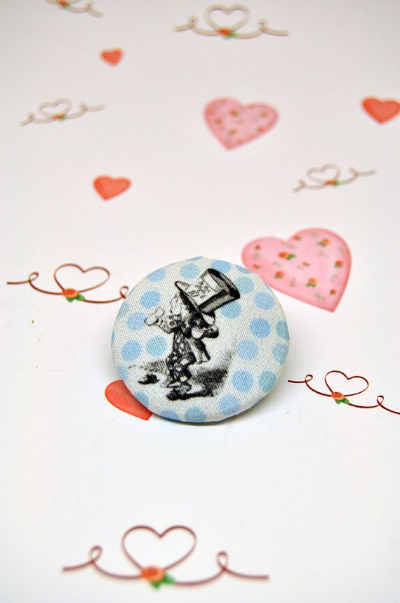 Mad hatterAlice in wonderland fabric covered by buttoninthebox, €2.50