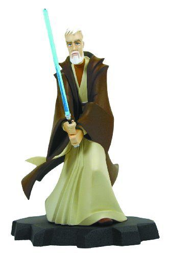 "Gentle Giant Star Wars: Animated Obi-Wan Kenobi ""A New Hope"" Maquette by Diamond Comic Distributors. $104.95. Painted and ready to display. Stands 9"" tall. Limited edition. A gentle giant sculpt. Comes with a matching, numbered Certificate of Authenticity. From the Manufacturer                A Gentle Giant Sculpt. As the Jedi's ranks were wiped out by the machinations of the emergent Empire, Obi-Wan Kenobi went into hiding on Tatooine. He would stay there for decade..."