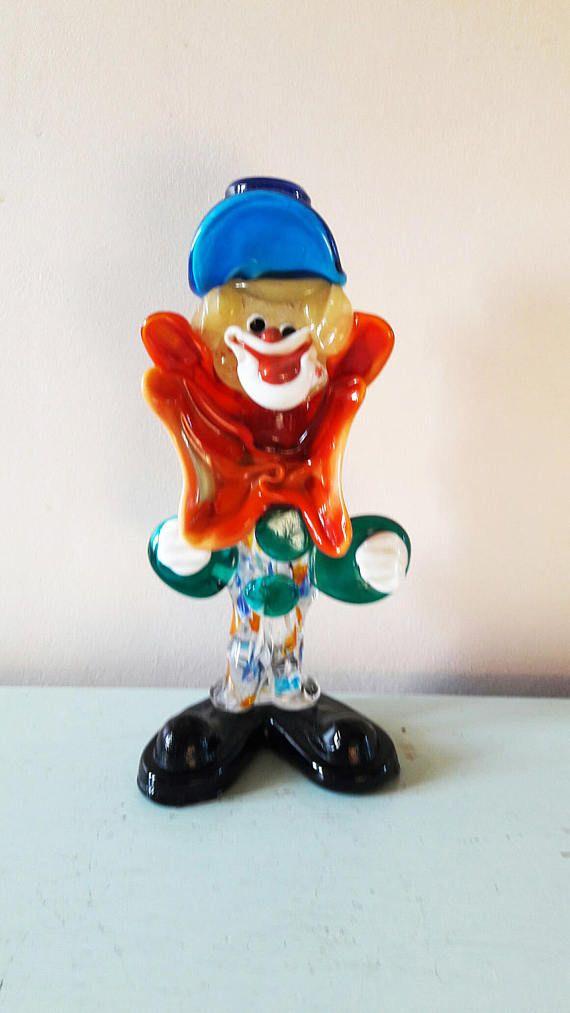 Very Kitsch Original Murano Glass Clown  1960s