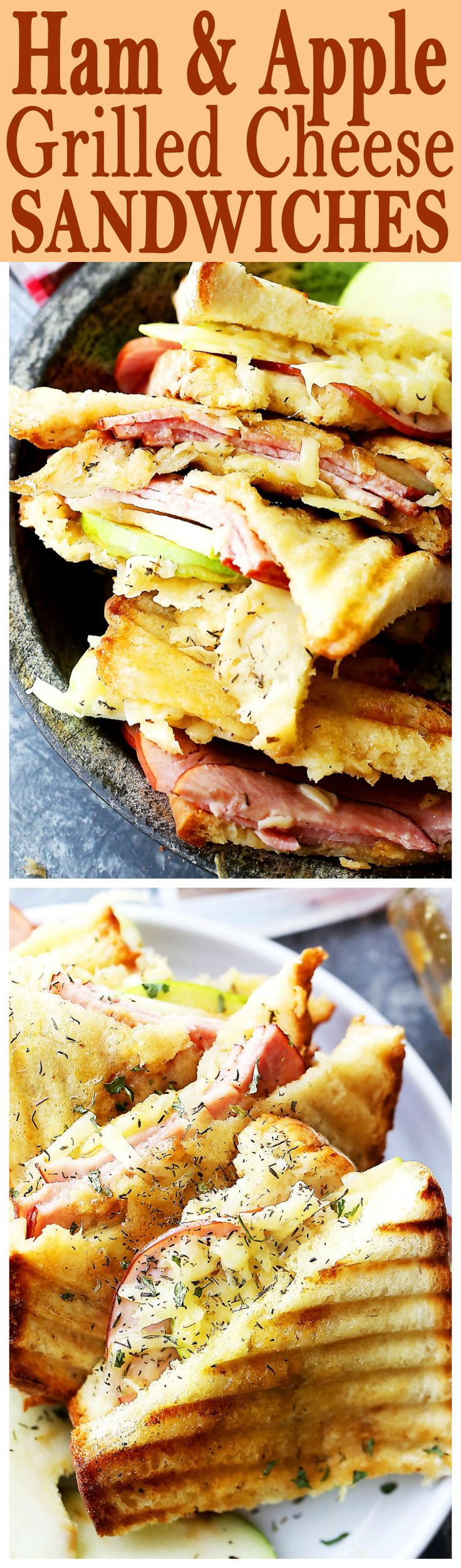 Ham and Apple Grilled Cheese Sandwich - Transform the classic grilled cheese sandwich with a perfect combination of flavors and textures including apples, ham, and gruyere cheese!