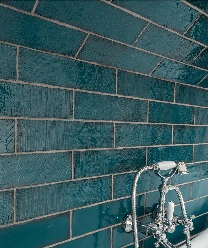 Lampas Peacock Pattern Tile Topps Tiles Turquoise Bathroom Small Bathroom Makeover
