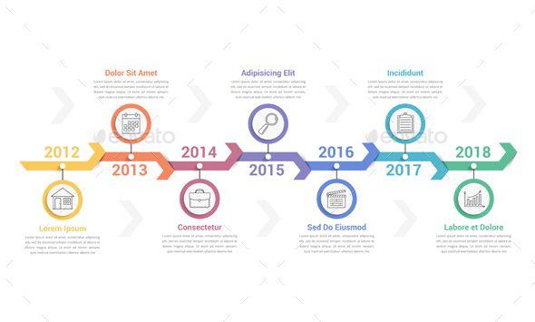 Timeline Infographics Infografik Zeitstrahl Design