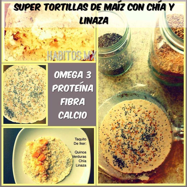 ¡Súper tortillas de maíz con chía y linaza!