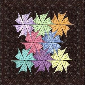 how to make a twisted cabin quilt block