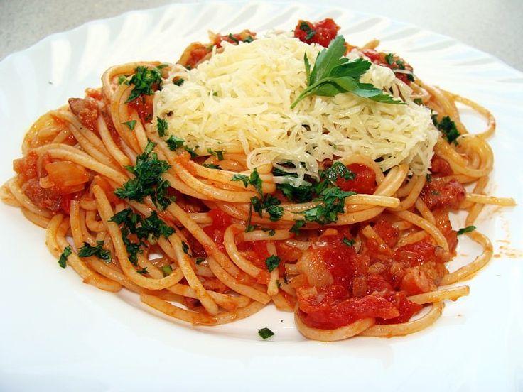 """Spaghetti """"słoneczna italia"""""""