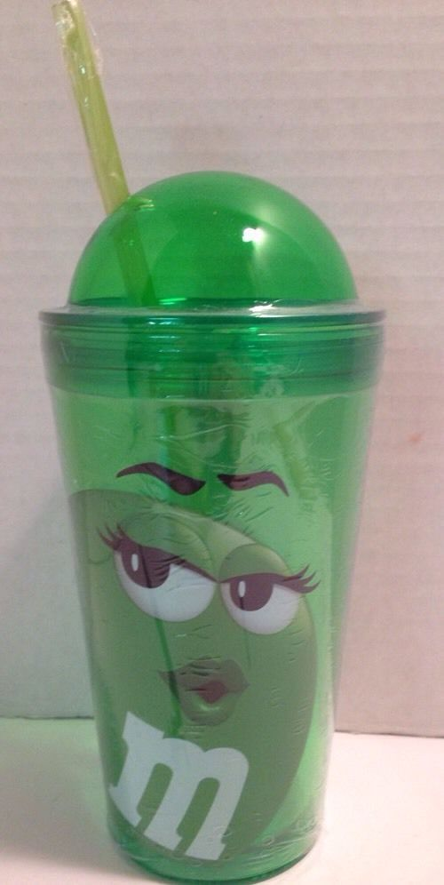 23 easter gift ideas pinterest details about mms ms green big face travel cup tumbler glass high dome with straw 152 oz negle Image collections