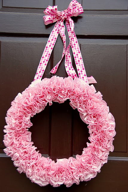 Wreath made with Cupcake Liner
