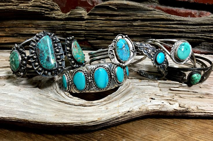Sterling silver Navajo cuff set with mottled blue turquoise. Stone is not filled and has a natural crack. It is stable in the setting. Cuff is formed with three cuffs that are attached behind the ston