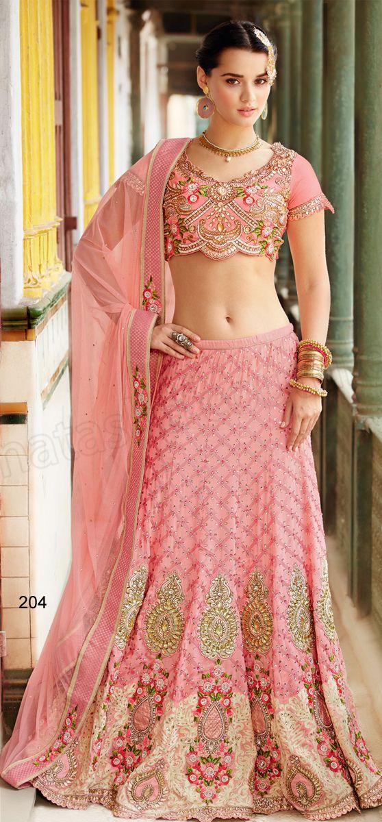 #Designer Lehenga Choli#Pink #Indian Wear#Desi Fashion #Natasha Couture #Indian Ethnic Wear #Bridal Wear #Wedding Wear