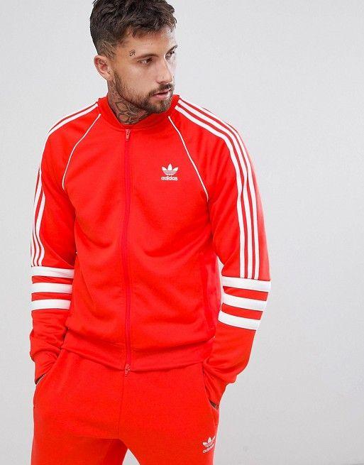 Adidas Originals Authentic Hoody In Red DJ2859 Red
