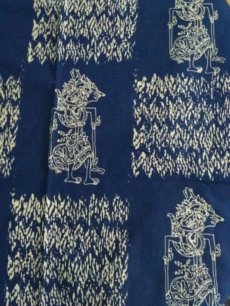 Batik motif Wayang. Traditional fabric from Indonesia. #batiklovers