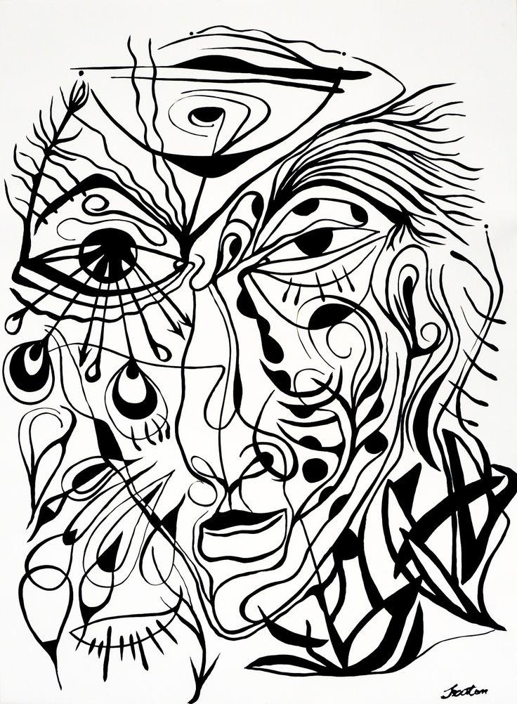 Rafal Michal Szaton, Marcel Marceau (2014)  #painting #art #artmarket #limitededition #artistoftheday #fineart #buyart  #popart #polishart #pinmorales #black&white