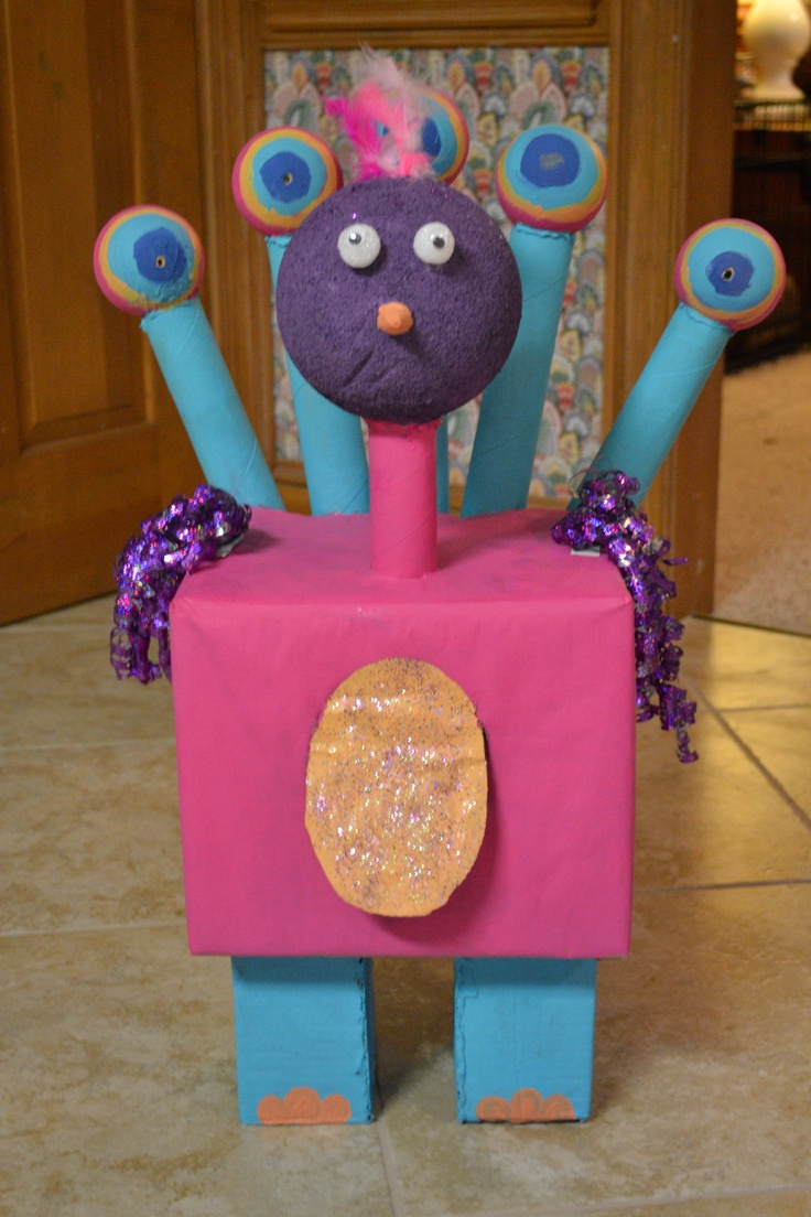 My daughters Geo-bot she made for her geometry project in 3rd grade.  It's Paisley Peacock!