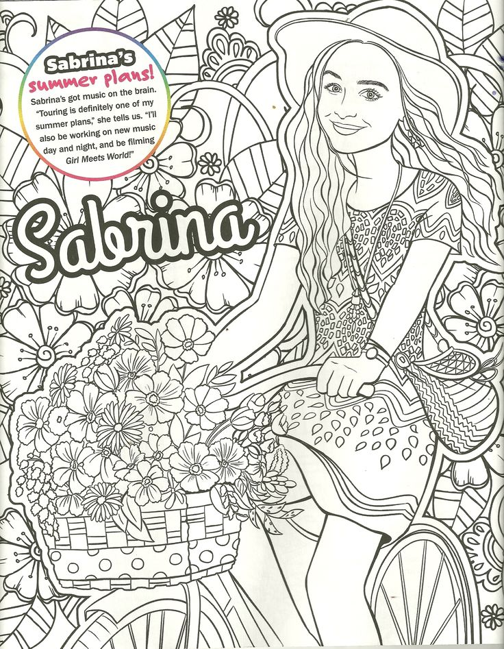 Sabrina Carpenter Coloring Page My Coloring Pages