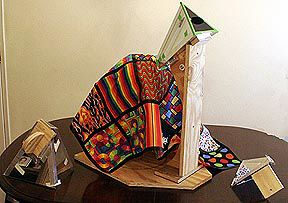 Quiltscope! A homemade kaleidoscope with almost infinite pattern options...