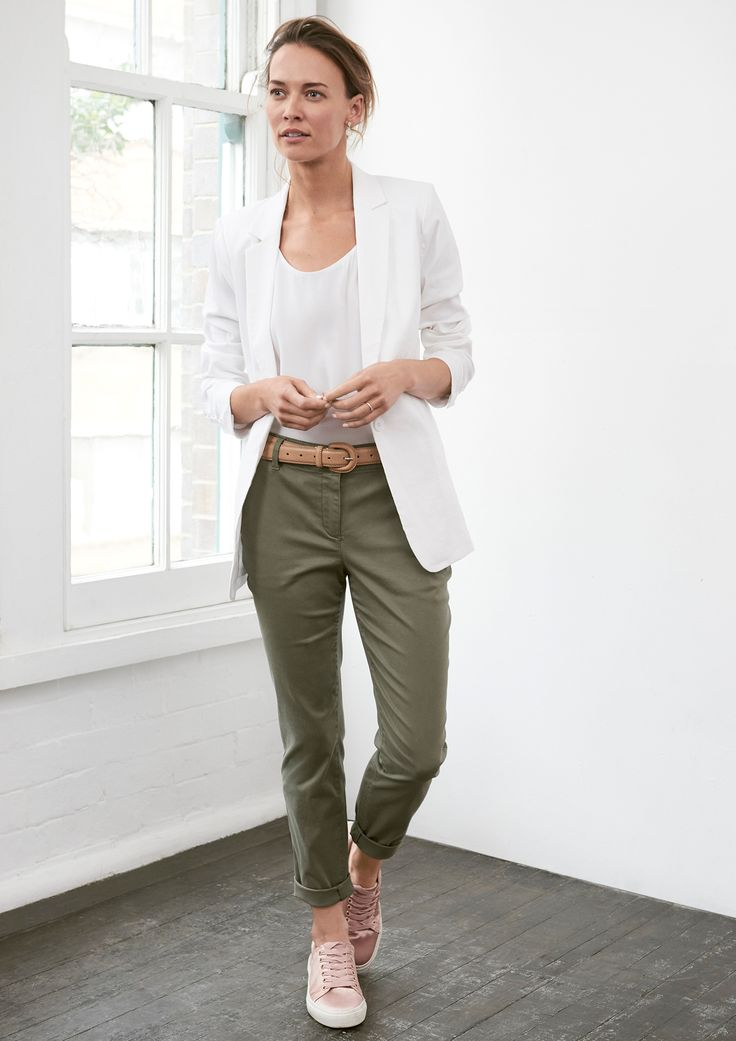 Sussan style - khaki chinos