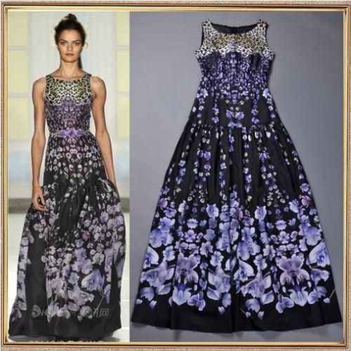 Leopard Flower Print Maxi Dress