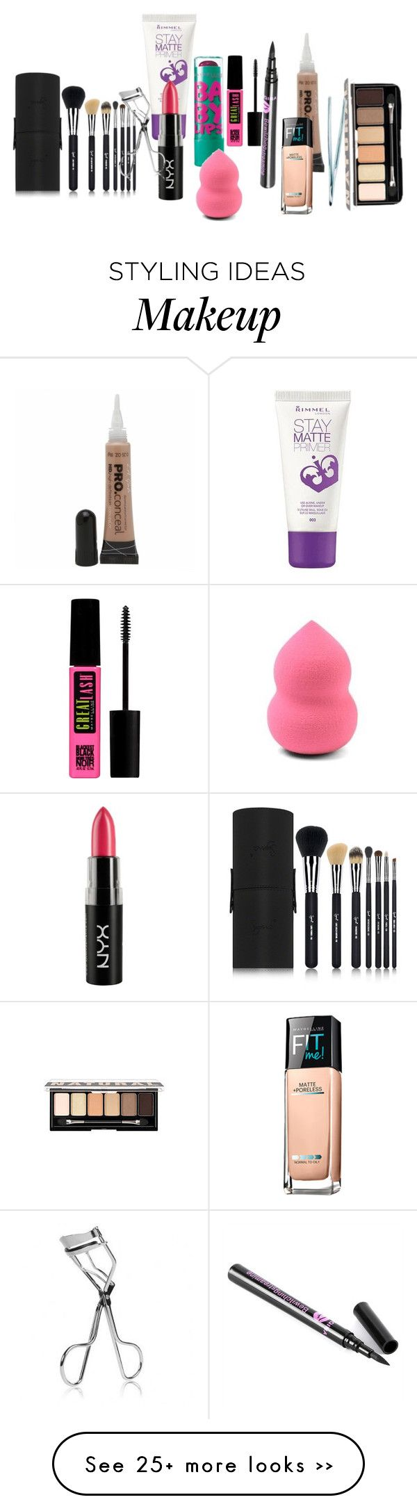 """Makeup kit for beginners"" by mulaaa-baby on Polyvore"