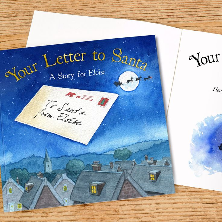 What could be better than a book featuring your kid's name on every page, in not only the story, but across 10 gorgeous, hand-painted illustrations? That's exactly what you get with this enchanting Personalized Letter to Santa Book... http://www.simplypersonalized.com/product/personalized-letter-to-santa-book/?utm_source=pinterest&utm_medium=post