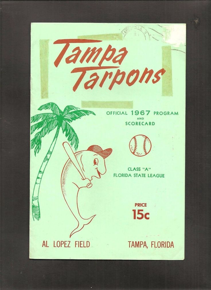 1967 TAMPA TARPONS MINOR LEAGUE BASEBALL PROGRAM FLORIDA STATE A LEAGUE CIN REDS | eBay