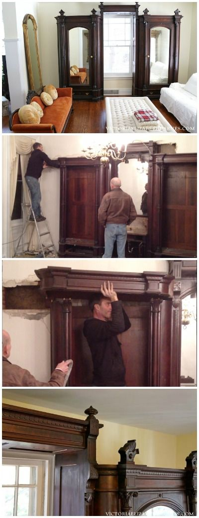 My BEST Craigslist find! This GIANT, antique wardrobe came out of a Philadelphia mansion and it took us HOURS to dismantle… I'm decorating our old Victorian house solely from Craigslist, auctions, and estate sales!