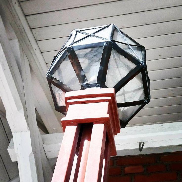 Old lamp by Hämeenlinna railwaystation