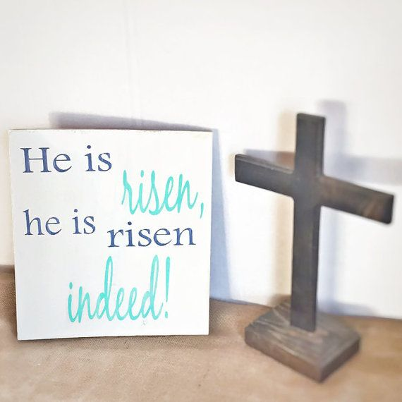 wooden Easter decor  Bible verse decor  by BeStillAndKnowSigns