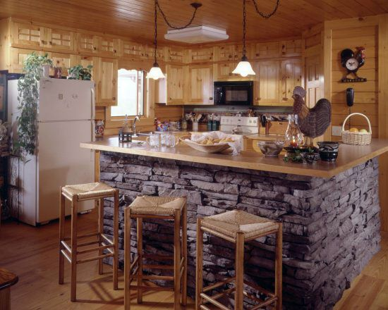 pictures of log home kitchens