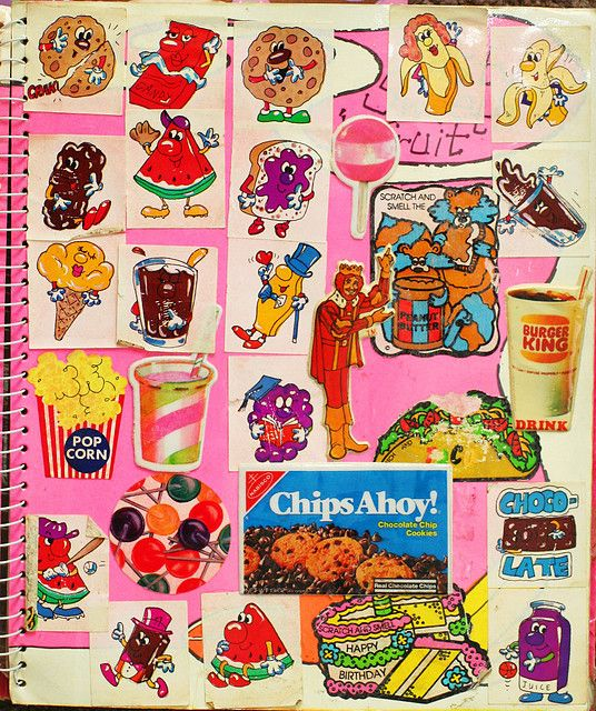 80's stickers. Scratch and Sniff.
