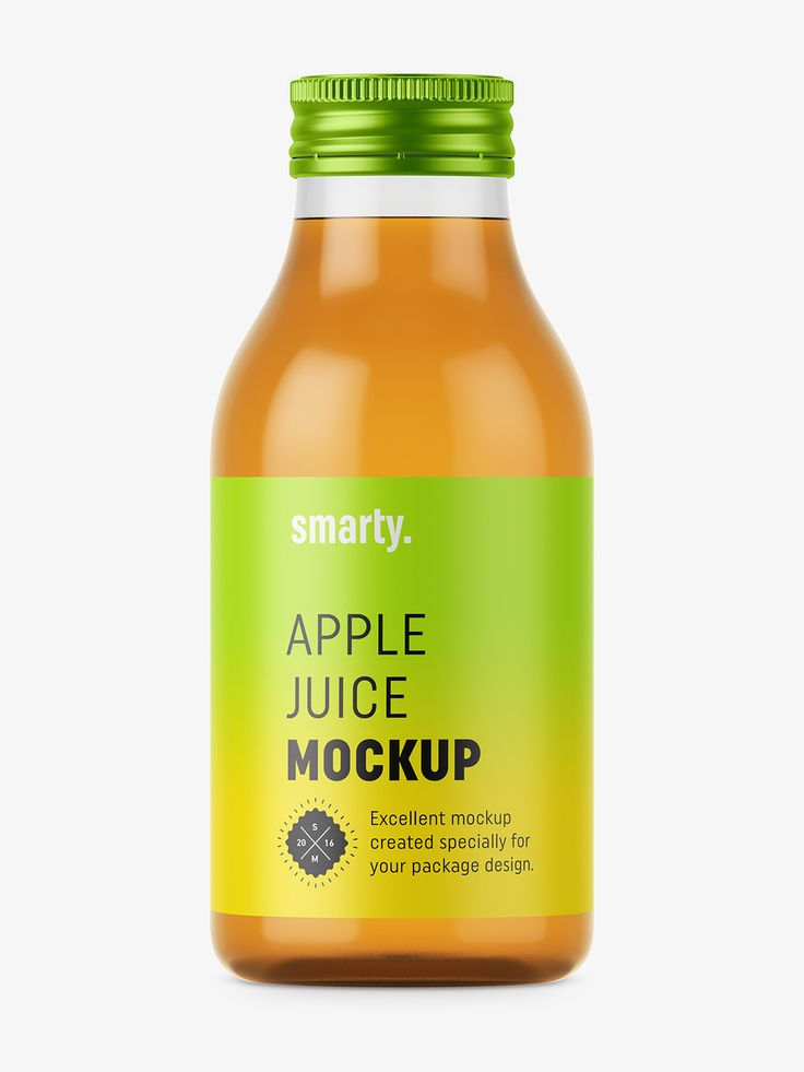 Apple juice mockup